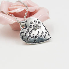 heart necklace-no longer by my side...
