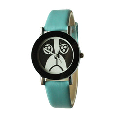 Dog Face Wrist Watch for Women- 9 band colors