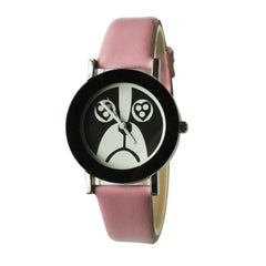 Dog Face Watch for Women-Pink Band