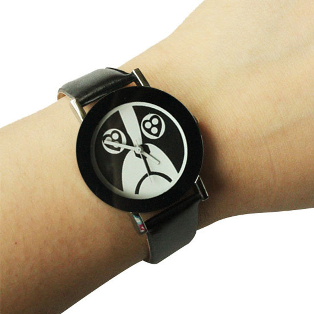 dog face watch for women-black