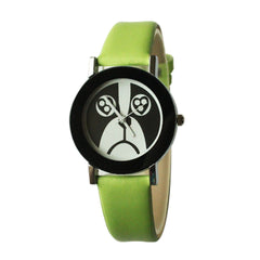 Dog Face Watch for Women-Green Band