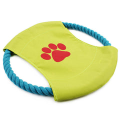 Dog Chew Braided Cotton Rope Flying Disk Frisbee