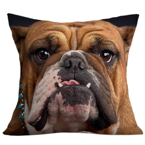 "18"" X 18"" Bulldog or Pug Pillow  Cover - BestDogShop.com"