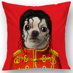 Cartoon Michael Jackson Dog Pillow