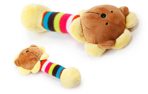 Fleece & Fiber Squeaky Dog Toy- 3 Designs