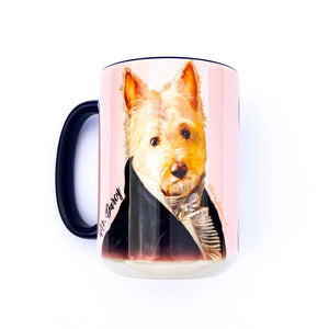 "Westie dogs ""Mr. & Mrs. Darcy"" 15 oz Ceramic Mug"