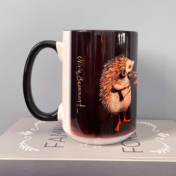 "Hedgehogs ""The Hoggens Brothers"" 15 oz Ceramic Mug"