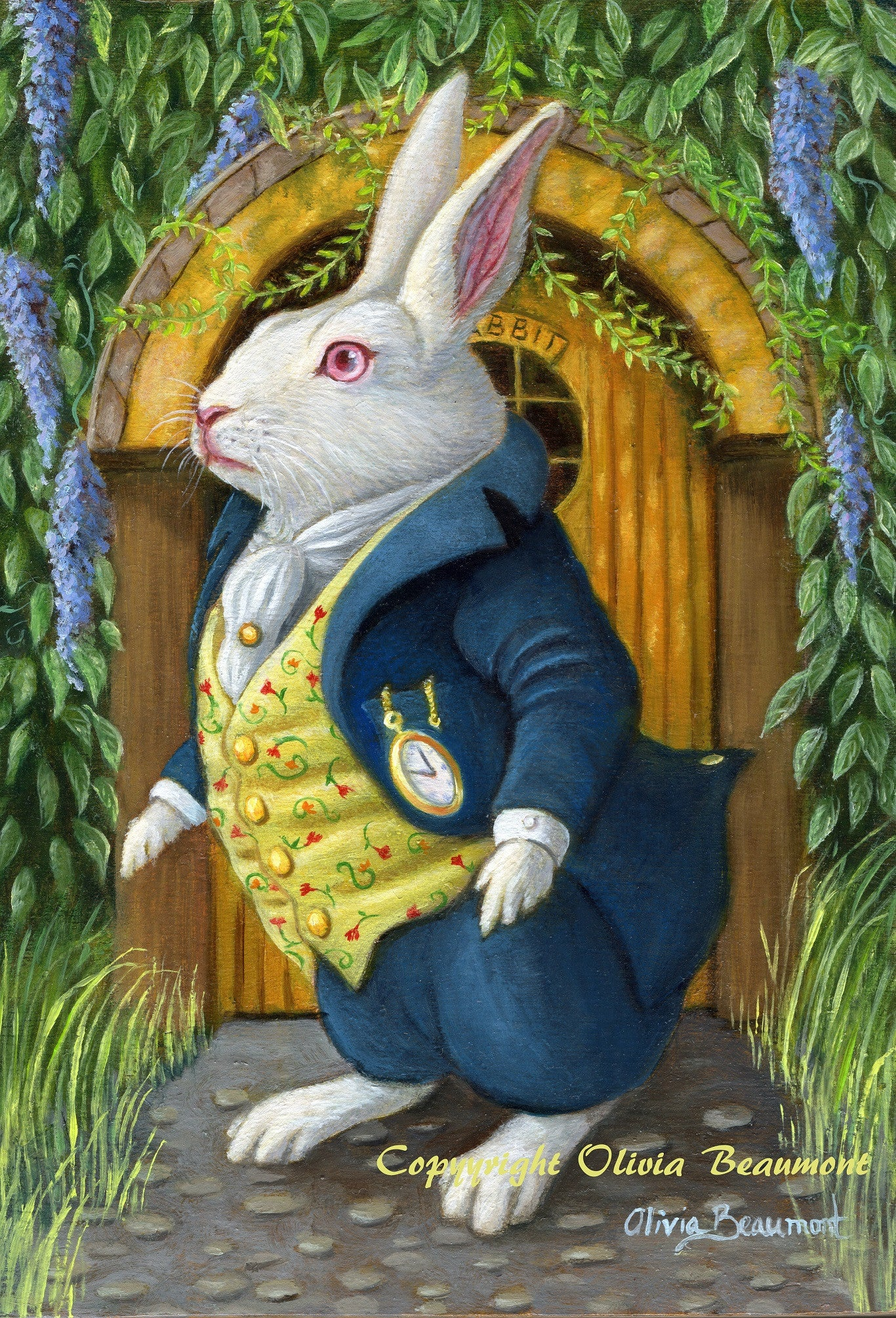 The White Rabbit's Door - print