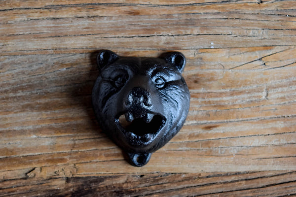 Wall Mount Bear Bottle Opener