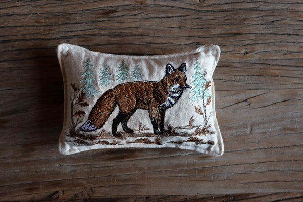Balsam Fir Fox Pillow