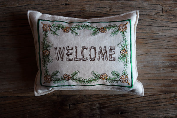 Welcome Balsam Fir Pillow