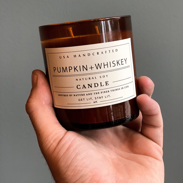 Pumpkin+Whiskey Candle