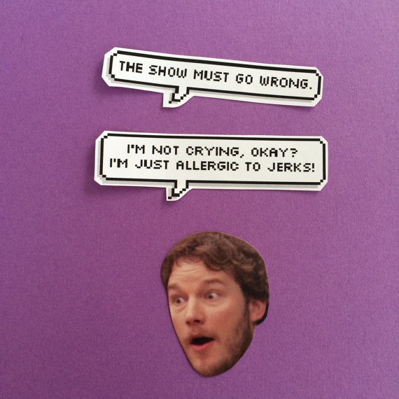 Andy Dwyer Quotes Sticker Set