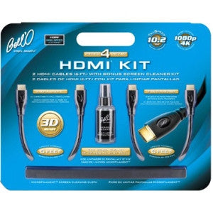 Bell'O 2 HDMI Cables with Bonus Screen Cleaner Kit - HD Furniture