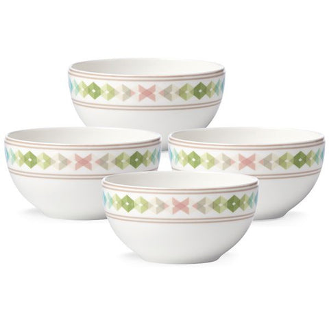 Entertain 365 Sculpture Green Blue 4-piece Dessert Bowl Set by Lenox