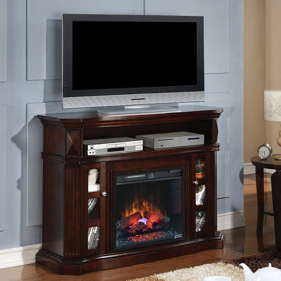 Bell `O Bellemeade 23MM774-E451 Electric Fireplace Media Console in Espresso -SHIPS WITH INFRARED FIREBOX INSERT#23EF031GRP - HD Furniture