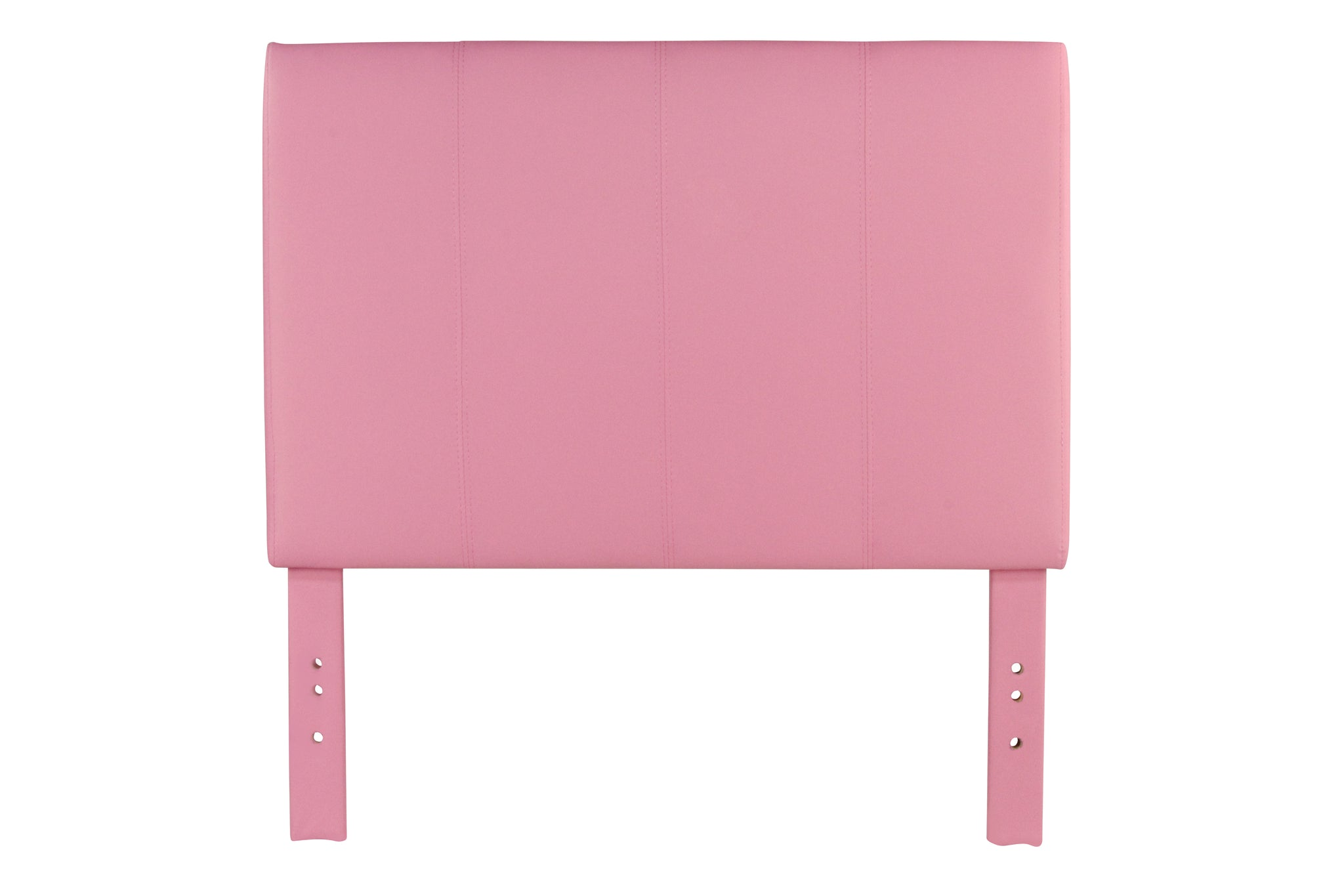 Chris Contemporary Leatherette Headboard in Pink -Full Queen - HD Furniture