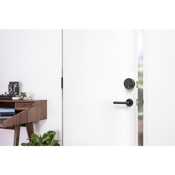 August SL03-C02-G03 Smart Lock Pro + Connect Bundle - Dark Gray - HD Furniture