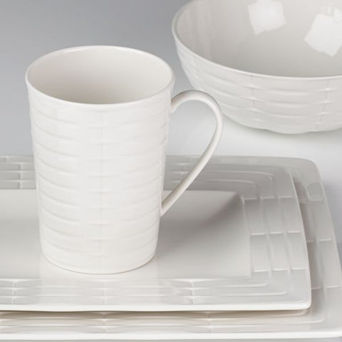 Entertain 365 Sculpture Rectangular 4-piece Place Setting by Lenox