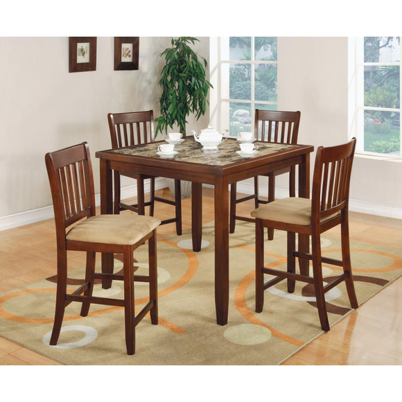 5 PC Dining Set by Coaster - HD Furniture