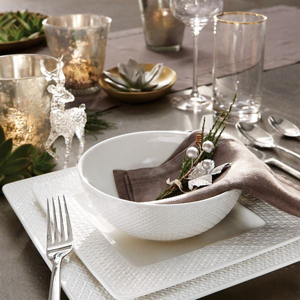 Entertain 365 Surface Texture Square 4-piece Place Setting by Lenox