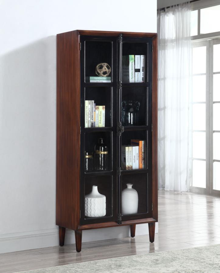 ACCENT CABINET TWO DOORS+GLASS by Coaster - HD Furniture