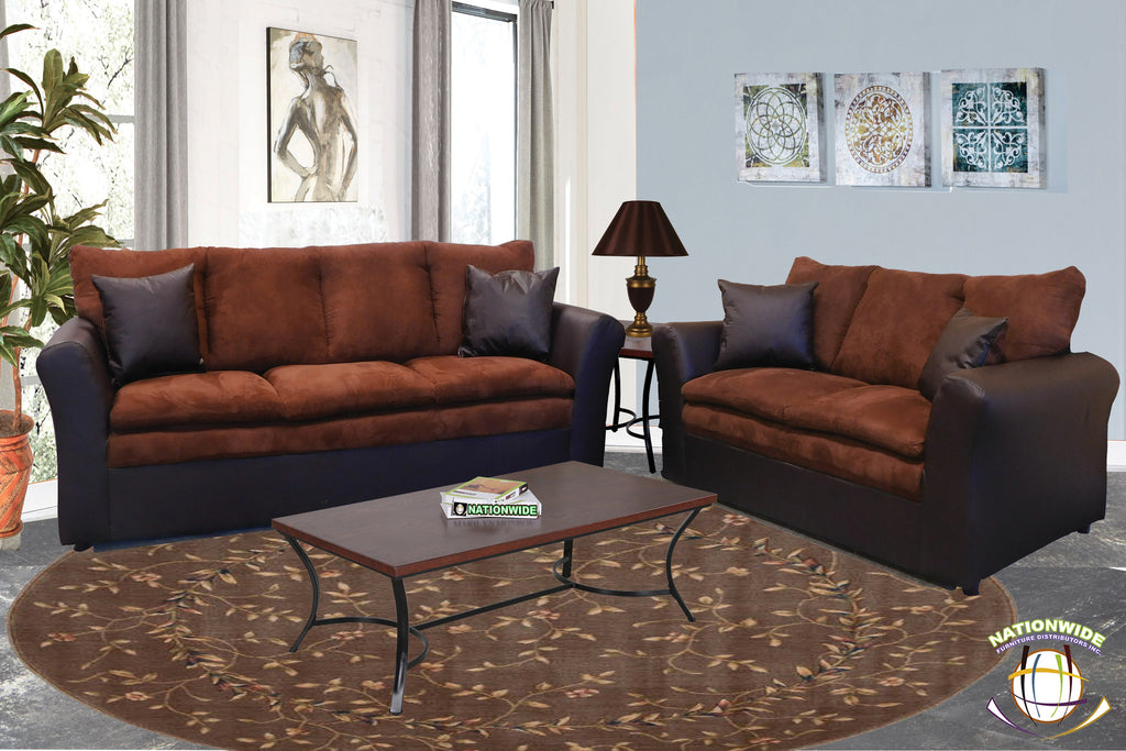 Harley Collection Sofa and Loveseat by HD Furniture