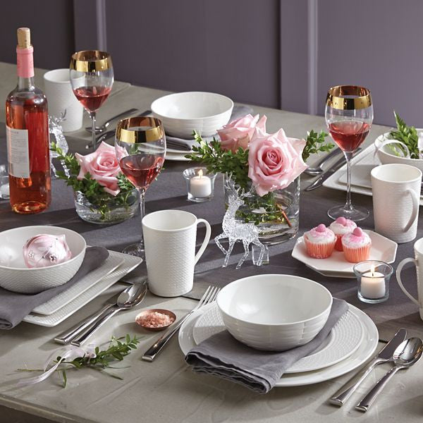 Entertain 365 Sculpture Mixed Round 4-piece Place Setting by Lenox