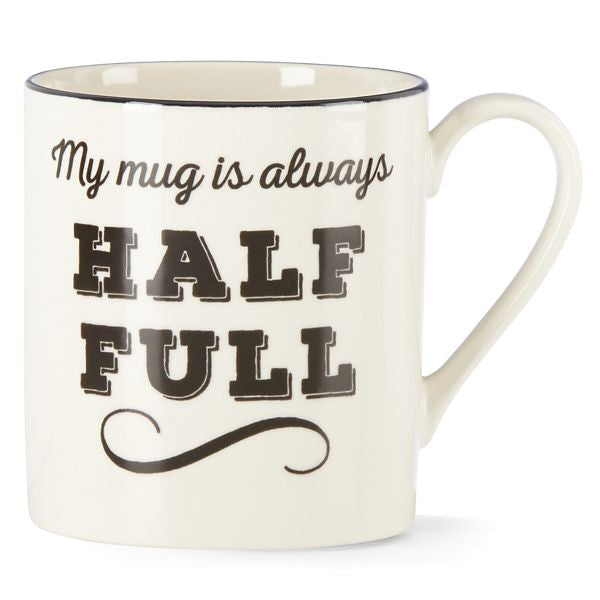 Around the Table My Mug Is Always Half Full Mug by Lenox - HD Furniture