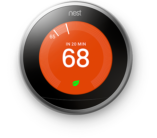 3rd Gen T3008US Nest Learning Thermostat Pro-Silver