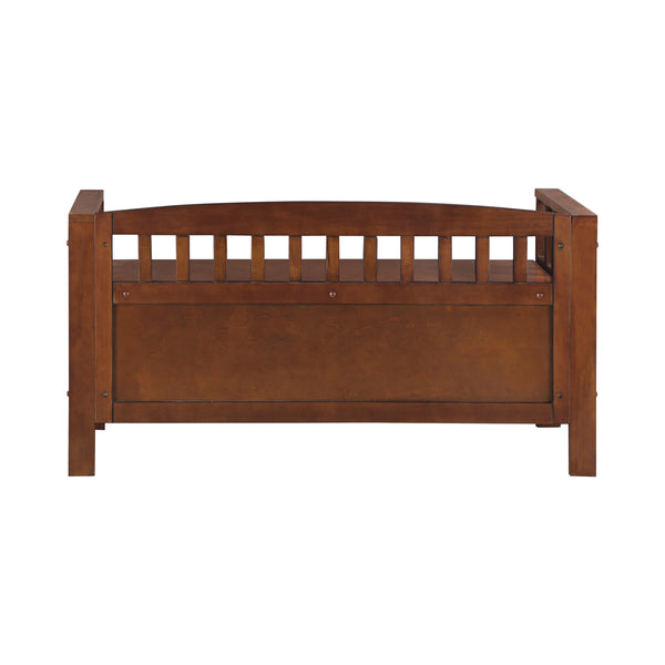 Flip Top Storage Bench Brown By Coaster