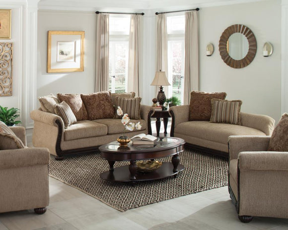 Beasley Collection 2pc (Sofa and Loveseat) by Coaster - HD Furniture