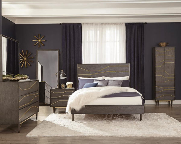 Tarah 4pc Bedroom Set Graphite by Coaster