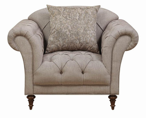 Alasdair Traditional Light Brown Arm Chair By Coaster - HD Furniture