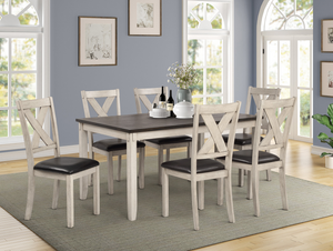 Kathy Dining Set With 6 Chairs by HD Furniture