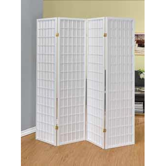 4 Panel Folding Screen by Coaster - HD Furniture