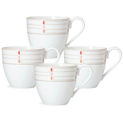 Entertain 365 Sculpture Confetti 4-piece Mug Set by Lenox