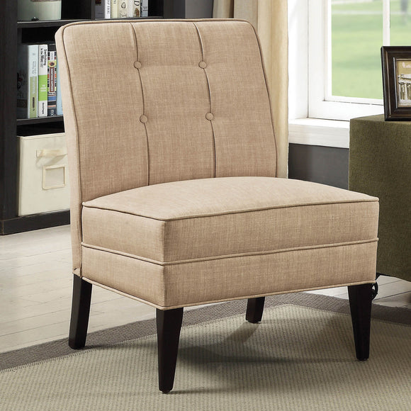 Harty Contemporary Style Beige Accent Chair