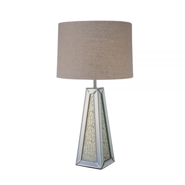 ACME Britt Table Lamp - 40123 - Mirrored & Chrome