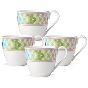 Entertain 365 Sculpture Green Blue 4-piece Mug Set by Lenox