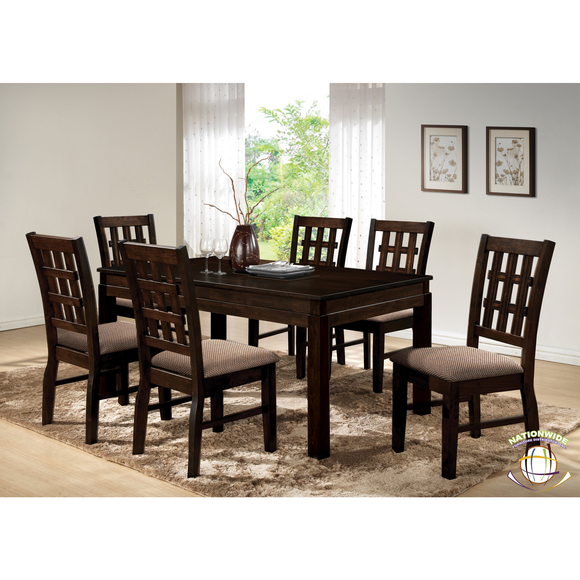 Antique brown dining set by HD Furniture - HD Furniture