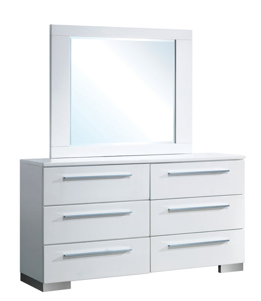 Bruce Contemporary Dresser and Mirror - HD Furniture