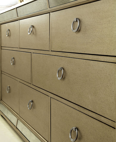 Stolte Glam Style Champagne, 5-Drawer Dresser