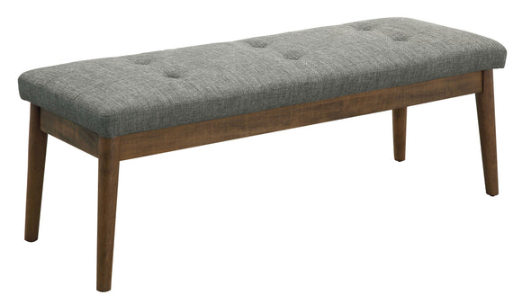 Andes Mid-Century Style Gray Bench - HD Furniture