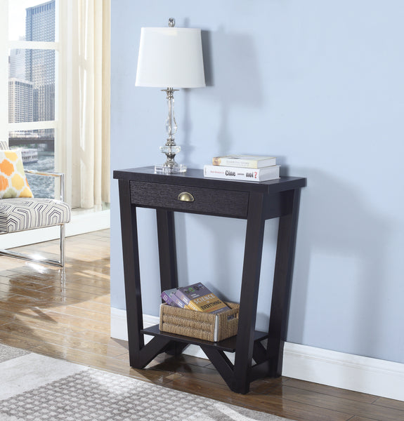 1-Drawer Console Table With Bottom Shelf Cappuccino