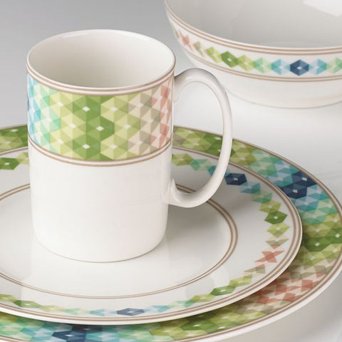 Entertain 365 Sculpture Green Blue 4-piece Place Setting by Lenox