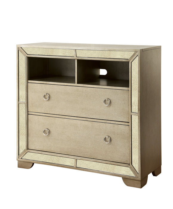 Stolte Glam Style Champagne, 2-Drawer Media chest