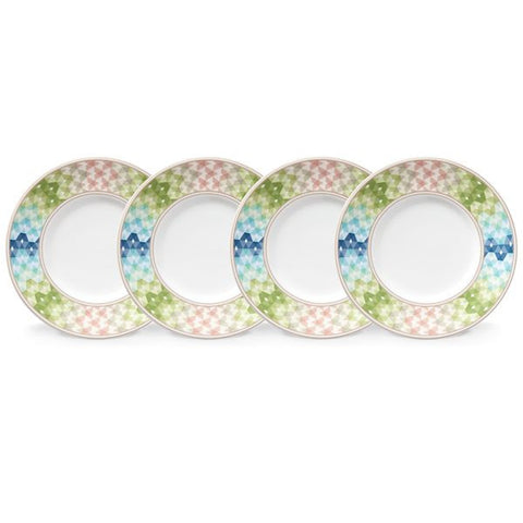 Entertain 365 Sculpture Green Blue 4-piece Dessert Plate Set by Lenox