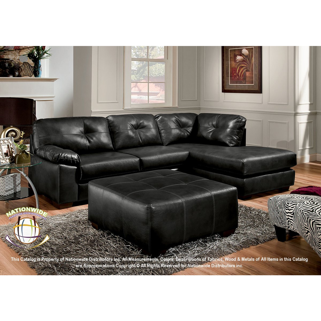Bonded Leather Sectional by HD Furniture