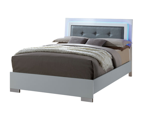 Bruce Contemporary Queen Bed - HD Furniture